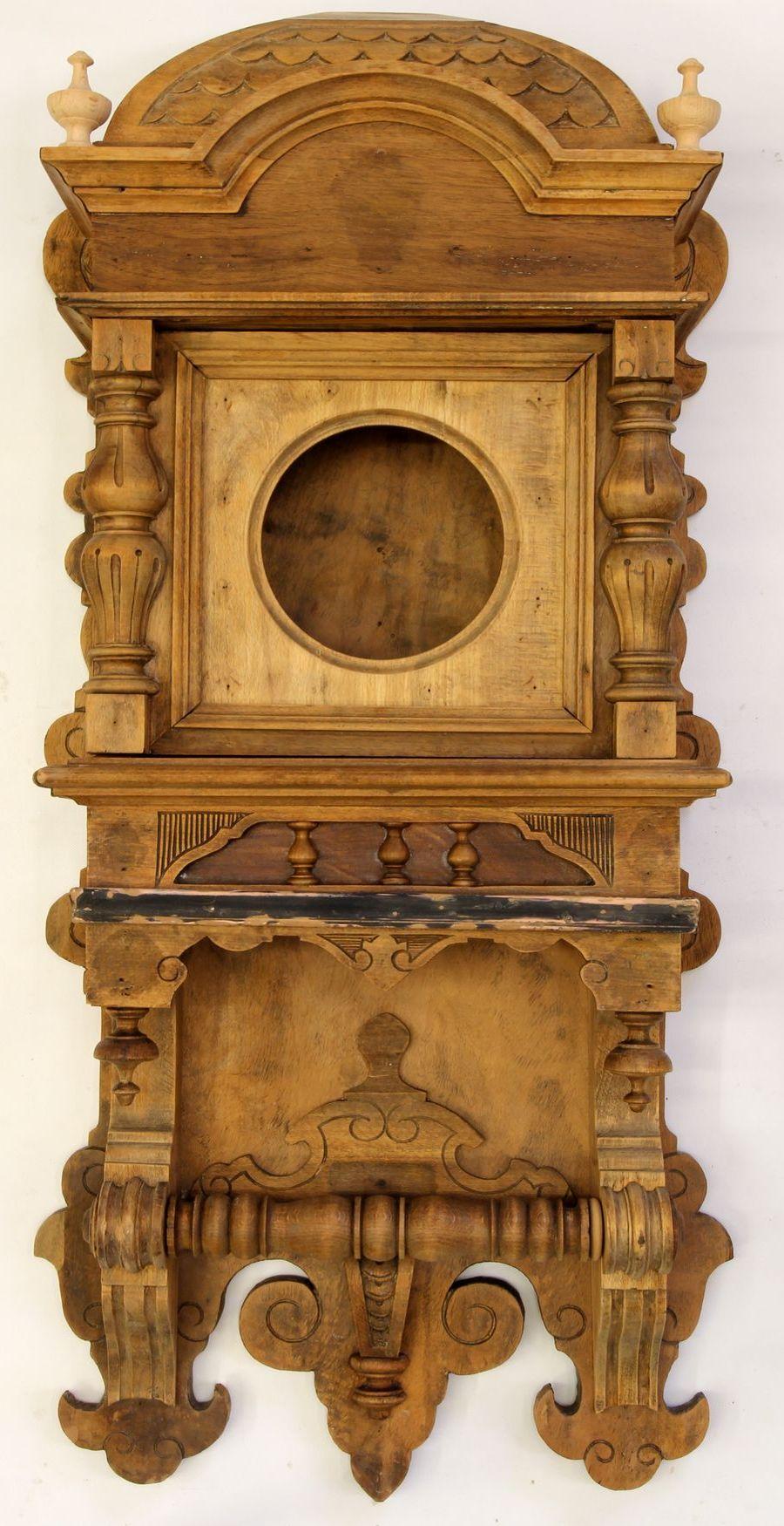 Buková hodinová skříň z 2. pol. 19. století 06
