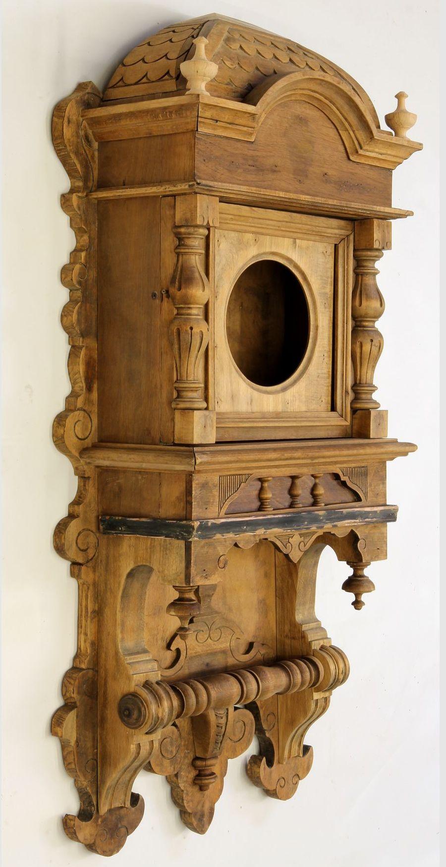 Buková hodinová skříň z 2. pol. 19. století 07