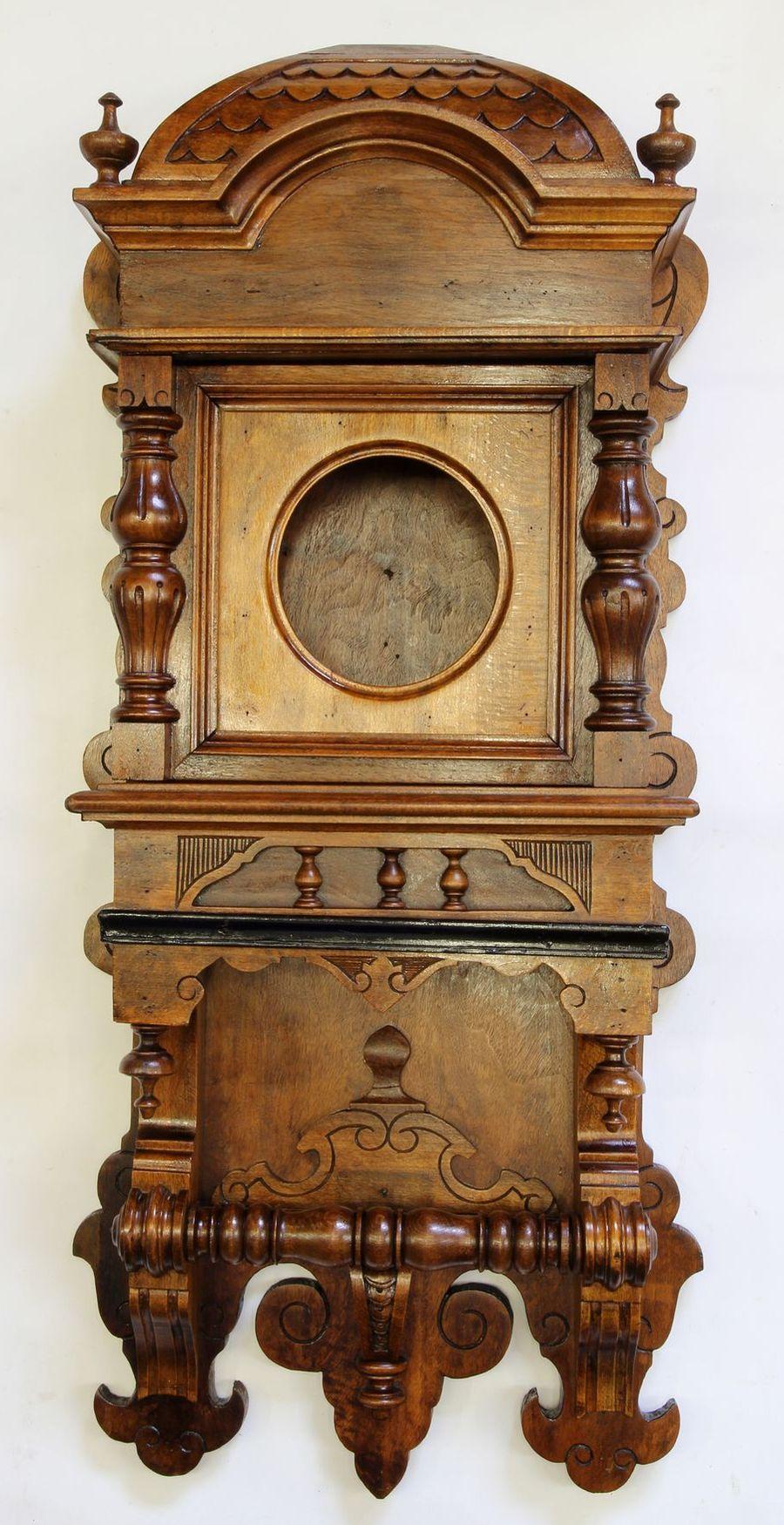 Buková hodinová skříň z 2. pol. 19. století 09